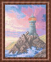 Набор для полной вышивки бисером - Маяк на закате, Арт. ПБп3-25
