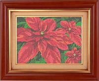 Набор для полной вышивки бисером - Красные цветы, Арт. НБп4-3