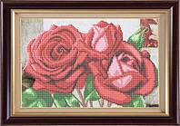 Набор для частичной вышивки бисером - Красивый букет роз, Арт. НБч4-7