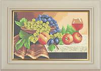 Набор для полной вышивки бисером - Натюрморт из фруктов и бокала вина, Арт. НБп4-16