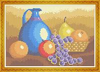 Набор для полной вышивки бисером - Фруктовый натюрморт и кувшин, Арт. НБп4-14