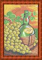 Набор для полной вышивки бисером - Бутылка вина и виноград, Арт. НБп4-29
