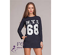 "Платье ""N.Y.C - 68"". Распродажа синий, 42"
