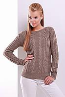 Вязаный свитер цвет кофейный, размер универсальный 44-50
