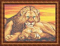 Набор для полной вышивки бисером - Пара львов, Арт. ЖБп2-6