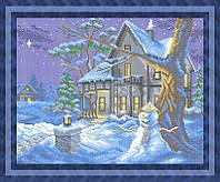 Набор для полной вышивки бисером - Зимний вечер, Арт. ПБп3-32
