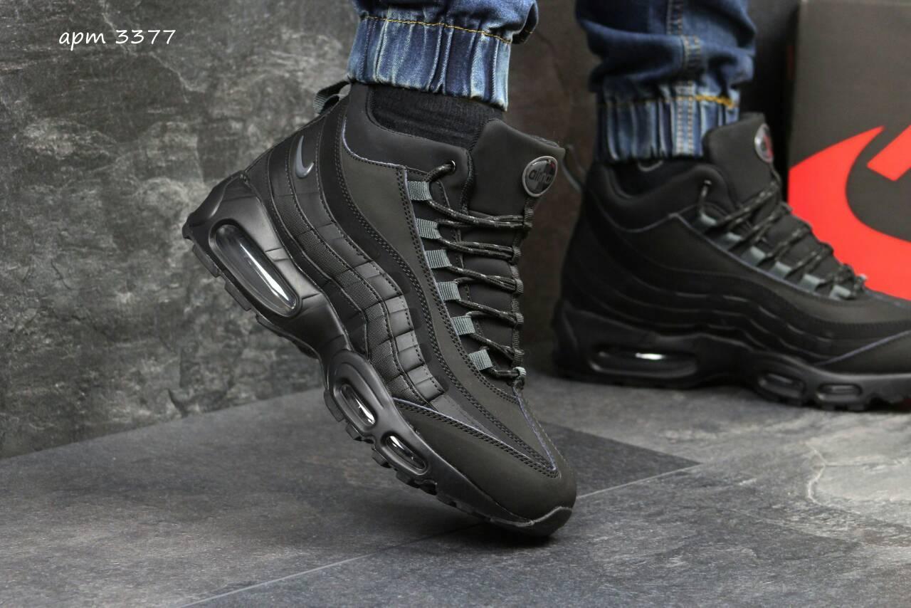 Мужские зимние кроссовки Акция!!!  на меху, от популярной фирмы - Nike, новинка 2017, фото 1