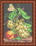 Набор для полной вышивки бисером - Фруктовый натюрморт и бабочка, Арт. НБп4-39