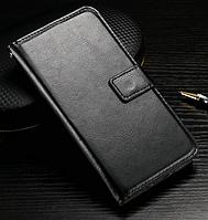 Кожаный чехол книжка для LG Optimus G2 D802 черный