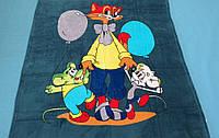 Микрофибровая простынь, покрывало Elway детское (127х152см) Кот Леопольд