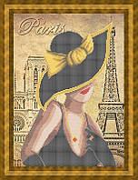Набор для частичной вышивки бисером - Модница из Рима, Арт. ЛБч3-13