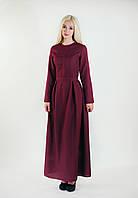 Жіноче бордове плаття-максі Linda
