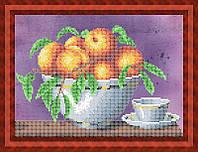 Набор для частичной вышивки бисером - Фрукты в вазе на столе, Арт. НБч4-57