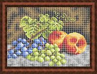 Набор для полной вышивки бисером - Виноград и персики на столе, Арт. НБп4-60