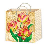 Подарочные пакеты цветы размер 16 х 16 см (12 шт./уп.)
