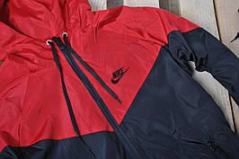 Размер L, XL !!!! Ветровка В стиле Nike водоотталкивающая ткань на флисе