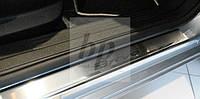 Защитные хром накладки на пороги Fiat Bravo (фиат браво 2007г+)