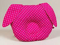 Подушка ортопедическая для новорожденных BabySoon Зайка 22 х 27 см розовая (146)