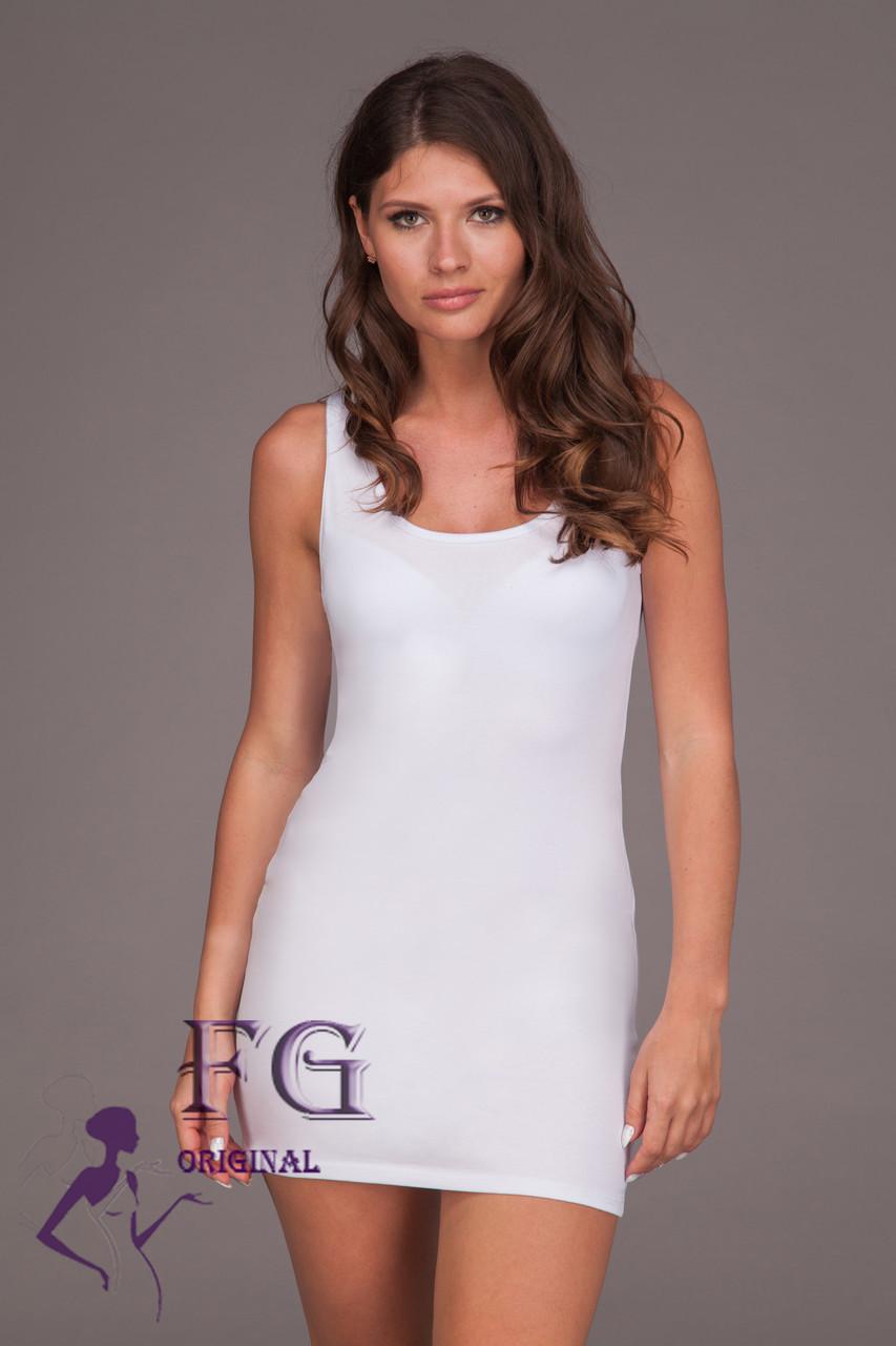 "Платье майка ""Jersey""| Распродажа модели белый, 46-48"