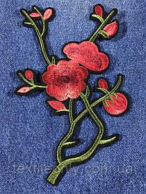 Нашивка Ветка цветов 120х189 мм