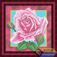 Набор для полной вышивки бисером - Красивая роза, Арт. НБп19-7