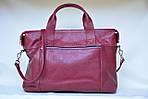 Деловой портфель женский VS107 burgundy 39х28х9 см, фото 3
