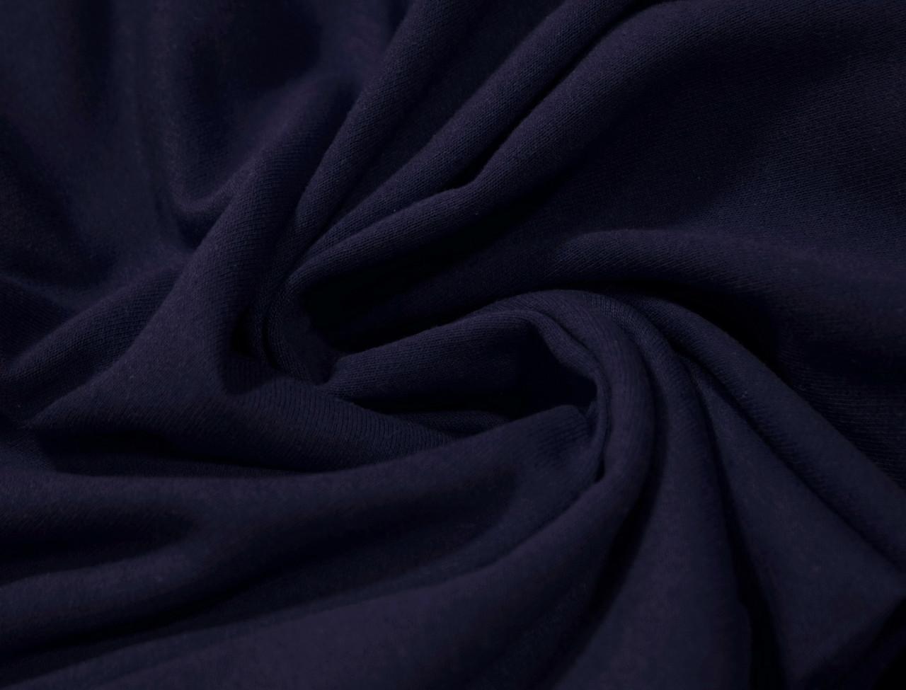 Футер двунитка с начесом темно- синяя (220см, Турция)