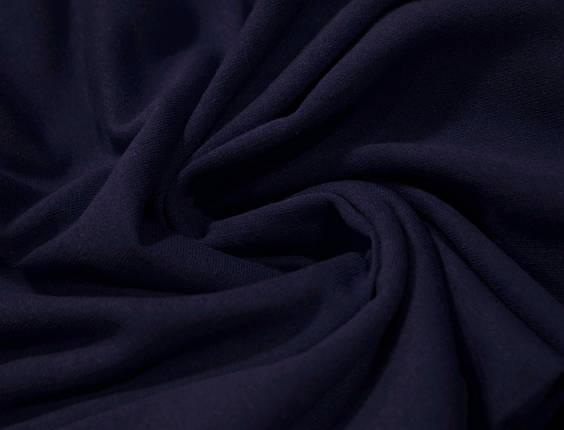 Футер двунитка с начесом темно- синяя (220см, Турция), фото 2