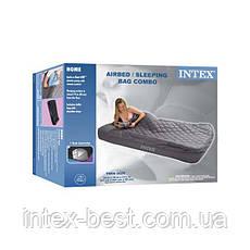 Односпальный надувной матрас Intex 66998 (193х91х25 см.), фото 3