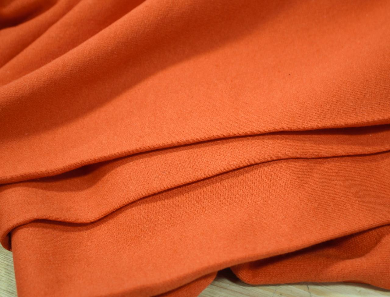 Футер двунитка с начесом оранжевая (220см, Турция)