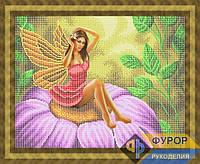Набор для частичной вышивки бисером - Фея на цветке, Арт. ФБч3-4-1