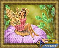 Набор для частичной вышивки бисером - Фея на цветке, Арт. ФБч3-5-1