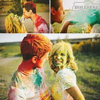 Яскрава осіння фотосесія з барвами Холі