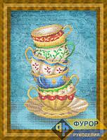 Набор для частичной вышивки бисером - Натюрморт из кружек, Арт. НБч3-101-1