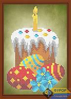 Набор для частичной вышивки бисером на габардине - Пасхальный натюрморт, Арт. ДБч5-089