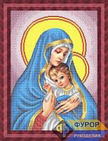 Набор для частичной вышивки бисером - Мадонна с младенцем, Арт. ЛБч3-60