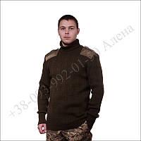 Армейский свитер шерстяной для военных олива