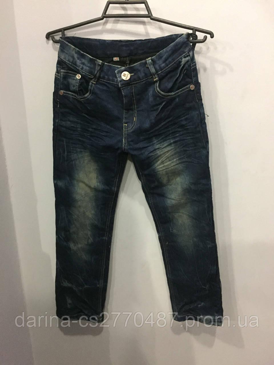 Утепленные джинсы для мальчика р24,26