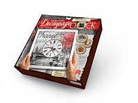 """Творчество Часы """"Decoupage Clock"""" з рамкою /10/"""