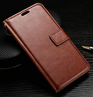 Кожаный чехол книжка для Lg Optimus G2 Mini D618 коричневый
