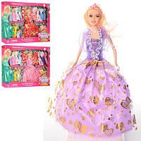 Кукла с нарядом D21A (18шт) 28см, платья 20шт, 3 цвета, в кор-ке, 48-35-5,5см