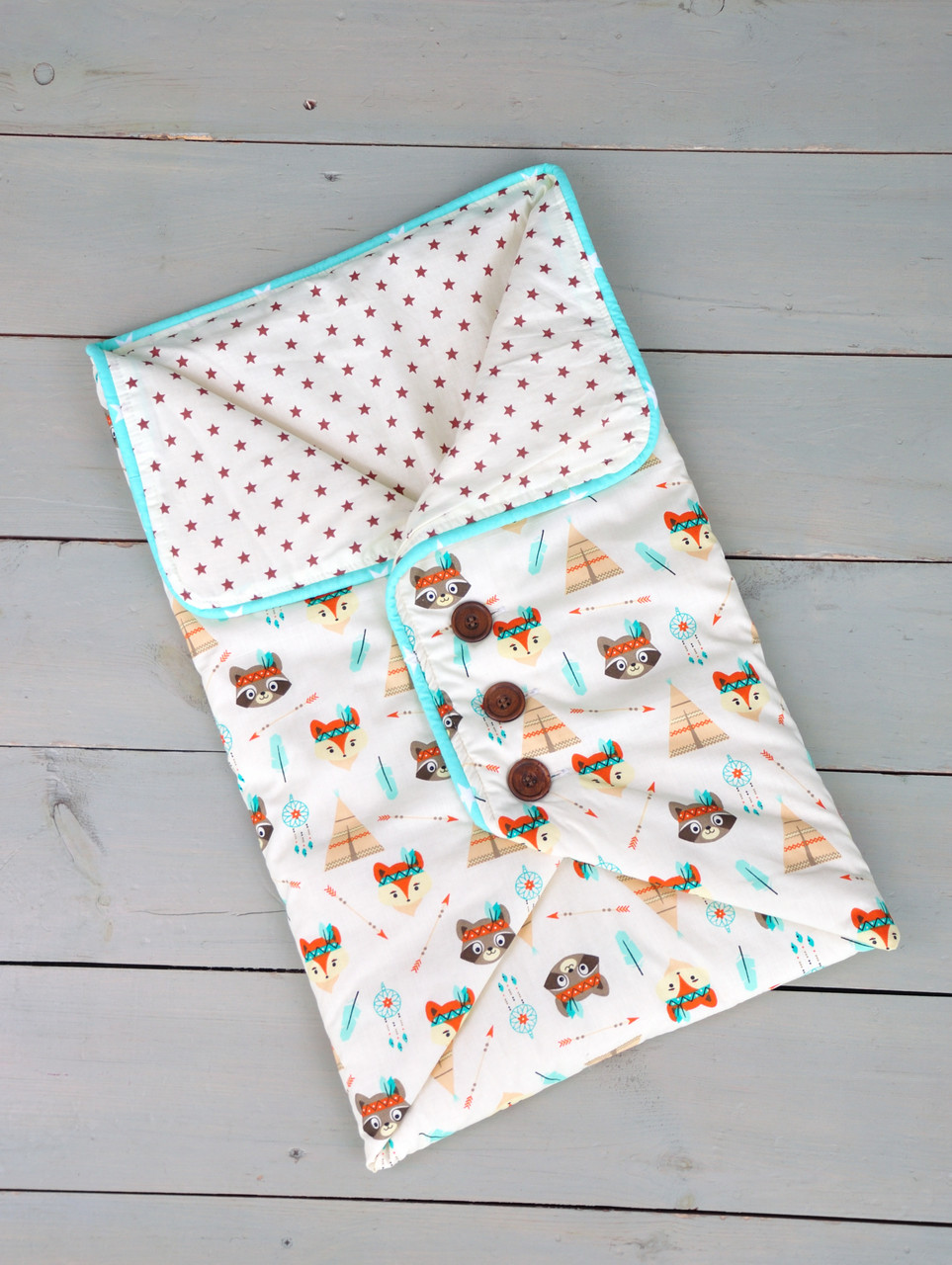 Конверт-одеяло с пуговицами
