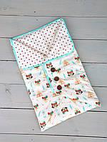Конверт-одеяло с пуговицами, фото 1