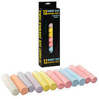 Мел MK 0097 (48шт) 12шт, большой, цветной (7цветов), в кор-ке, 11-32-2,5см