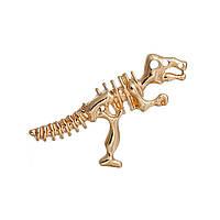 Подвеска Скелет Динозавра, Цинковый сплав, Цвет: Золото, Ажурная резьба, 38мм x 30мм