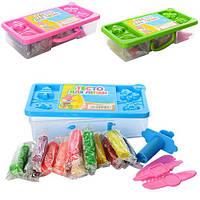 Тесто для лепки MK 0822 (72шт) 12цветов,аром,крышка-форма,4инструм,158г,3цв,в чемодане,17,5-8,5-4см