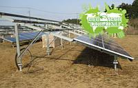 Система креплений для солнечных электростанций на Геошурупах (винтовых сваях)