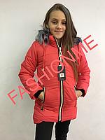 Куртка пальто зимняя детская на девочку очень хорошего  качества