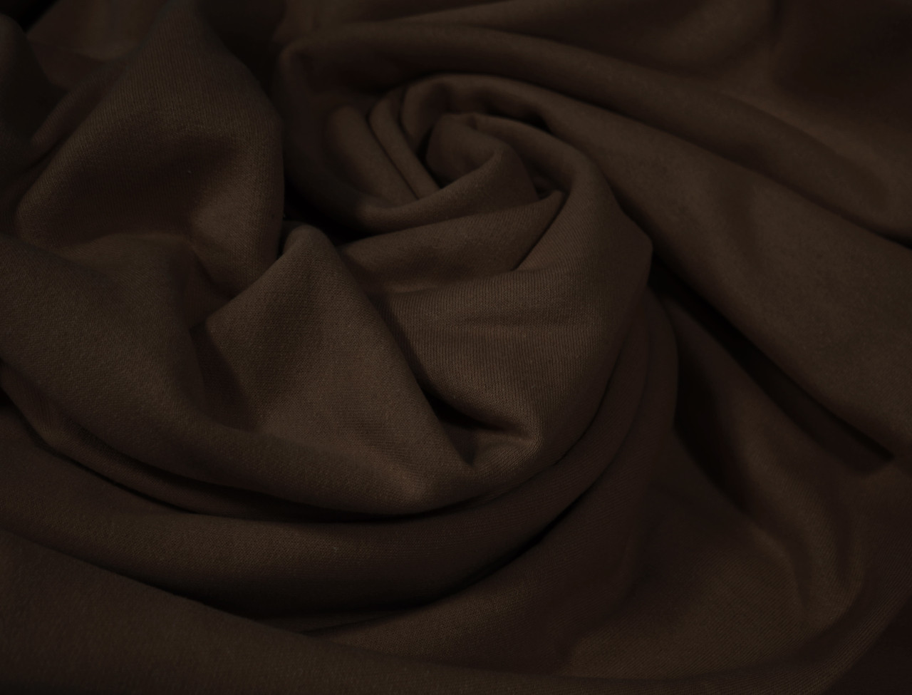 Футер двунитка с начесом шоколад (220см, Турция)