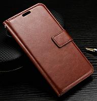 Кожаный чехол книжка для LG G3 mini коричневый